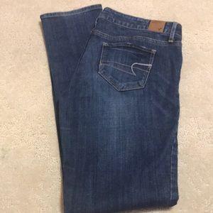 American eagle skinny jeans medium wash